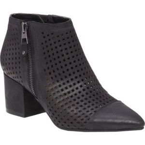 'Jakelyn' Perforated Leather Ankle Booties- Lucky
